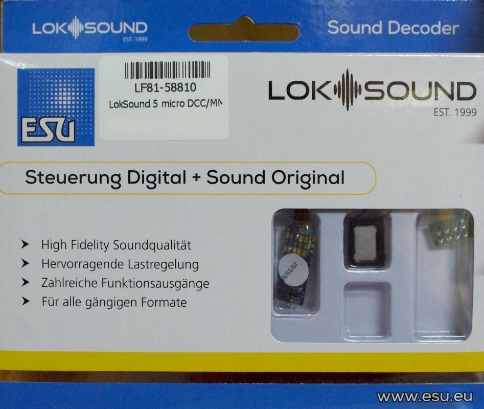 Esu 58810 Loksound 5 micro dcc mm sx m4  vacíos descodificador , 8-pin nem652