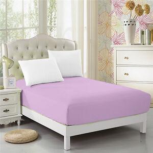 CC-amp-DD-Fitted-Sheet-Luxury-Ultra-Soft-Microfiber-Deep-Pockets-Lavender-Purple