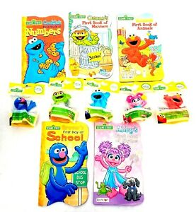 Sesame Street Ultimate Toddler Board Books & Toys 10pc Learning Play Set Lot