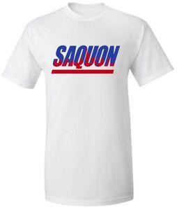 promo code c0a1c f224c Details about White Saquon Barkley New York Giants Skyline Logo Shirt