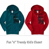 Ps Aeropostale Boys Size 7 Or 8 Kids' Psny City Full-zip Hoodie Sweatshirt
