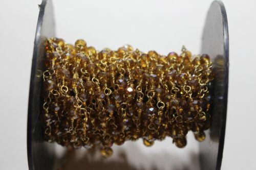 Natural Gemstone Beads Rosary Chain Wire Wrap À faire soi-même Bijoux Making Perles Chaîne