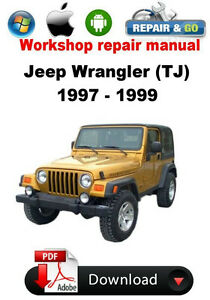 jeep wrangler tj 1997 1999 factory workshop repair manual ebay rh ebay com jeep wrangler tj parts manual 2005 jeep wrangler tj owners manual