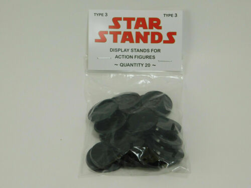 20 x BLACK Small Disc Star Wars MODERN action figure DISPLAY STANDS EP1 T3b