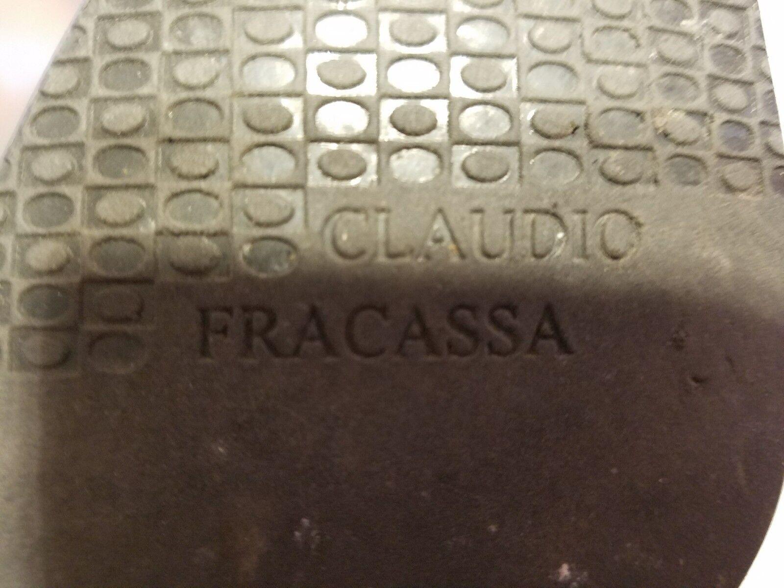 Claudio Fracassa EU schwarz Leder Stiefel EU Fracassa 37 85e070