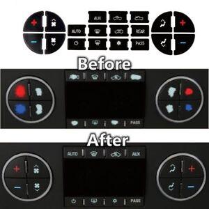 AC Dash Button Sticker Repair For GM Tahoe Suburban Avalanche Silverado Yukon
