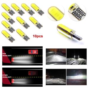 10x T10 W5W LED 6W Car Interior Light COB Bulb Wedge Parking Dome Light White H7