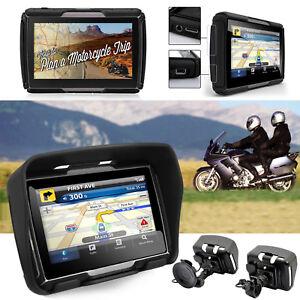 GPS-Bluetooth-Navigationsgeraet-8GB-4-3-Zoll-TFT-Reise-Motorrad-Bike-Lkw-Bus-Auto