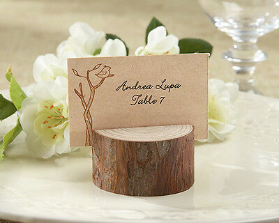 Rustic Spring Eco Forest Wood Photo Place Card Holder Wedding Favor (Asst. Qty.)
