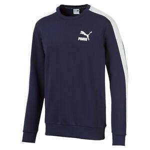 PUMA-Iconic-T7-Men-039-s-Fleece-Crewneck-Sweatshirt-Men-Sweat-Sport-Classics