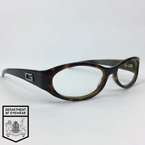5151bc28a6b Image is loading GUCCI-eyeglass-TORTOISE-OVAL-WRAP-AROUND-Authentic-MOD-