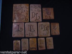 12-x-DL-Merkenthaler-Monogramme-Kupfer-Schablonen-Stencils-Patrons-broder