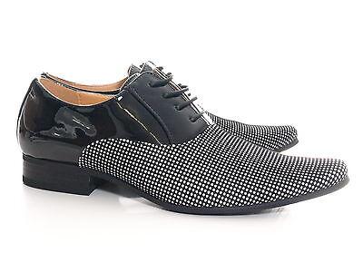 Herren Business Schnürr Schuhe Schwarz # 157811
