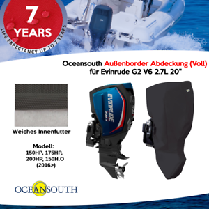"""für Evinrude G2 V6 2.7L 20/"""" Oceansouth Außenborder Abdeckung Voll"""