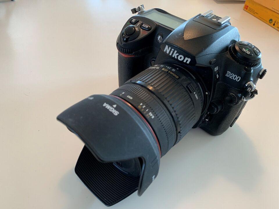 Canon, Nikon D200, spejlrefleks