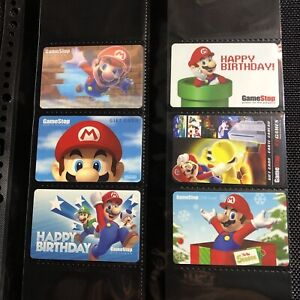 NINTENDO Super Mario GAMESTOP GIFT CARDS Trading Prepaid eShop Gift Cards Set
