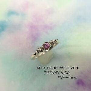 3f44ce9a4 Mint Authentic Tiffany & Co. Elsa Peretti Pink Sapphire Swan Silver ...
