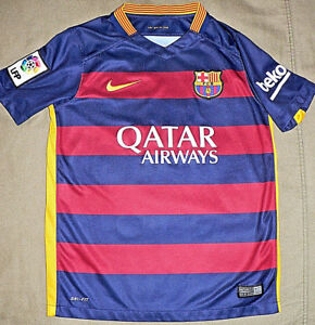 FC BARCELONA CLUB SPAIN SOCCER TEAM NIKE UNICEF JERSEY MEDIUM SIZE ... be664eb6020e