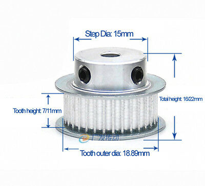 MXL35T Timing Belt Pulley Gear Wheel 5//6//6.35//7//8//10//12m Bore For 3D Printer