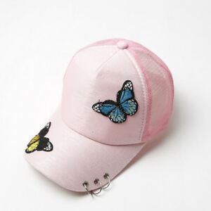 Image is loading Butterfly-Printing-Cap-Embroidery-Baseball-Caps -Sunscreen-Duck- d092aa2d894