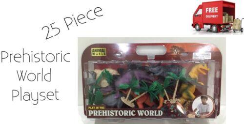 Juguete para Niños Animal Prehistórico Mundo Grande 25 Pieza Dinosaurio Juguete Juego Nuevo