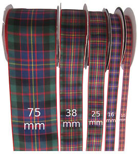 Cameron-of-Erracht-Tartan-Ribbon-various-widths-cut-lengths-and-20m-reels