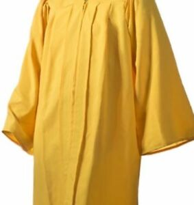 New Jostens Yellow Gold Graduation Gown Only No Cap Ebay