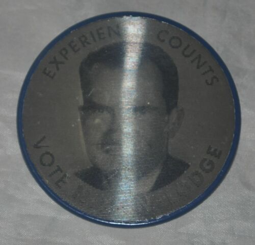 "1960 Experience Counts Vote Nixon And Lodge 2 12"" Flasher VariVue"