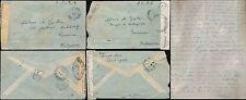 Congo Francés 1944 jefe del ejército... correo aéreo a Madagascar censurar a laillac + Cartas