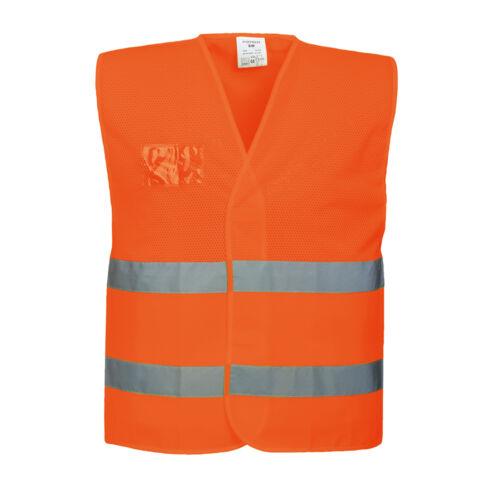 Portwest Uomini Hi-Vis mezza maglia canotta arancione//giallo Varie Taglie C494