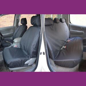 GRIGIO SU MISURA IMPERMEABILE ANTERIORE E POSTERIORE SEAT COVERS FORD RANGER DOPPIA CABINA 2012