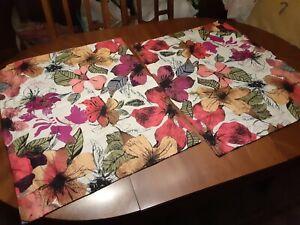 Vintage-Design-034-ROSA-034-PILLOW-SHAMS-Matching-Pair-Floral-amp-Stripes