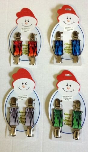 Assorted Flame Color Glove and Mitten Clips NEW!