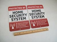 2 Home Security Alarm System 7x10 Metal Yard Signs - Stock 703