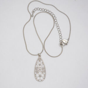 lia-sophia-signed-jewelry-flower-openwork-pendant-silver-plated-necklace-chain