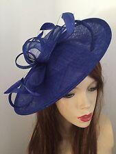 Hatinator Cobalt Royal Blue Saucer Hat Wedding Formal Disc Fascinator a173e19170b