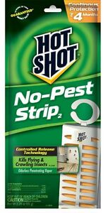 Hot-Shot-No-Pest-Strip-Insect-Killer-HG-5580-Lot-of-THREE-3-Pest-Strips