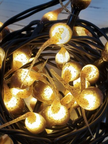 Strand Primitive Lighting Rustic Grubby Hand Dipped LED String Lights ~ 50 Ct