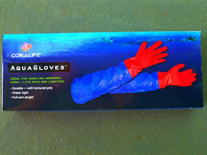 Coralife aqua gloves makes aquarium maintenance easy and for Fish cleaning gloves