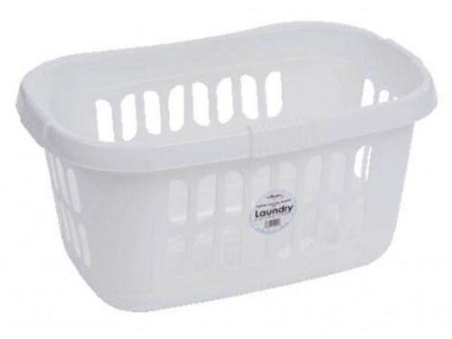 Panier à linge en plastique blanc laver le linge Bac de rangement