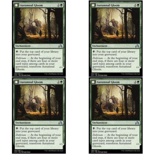 Enchantment Unc 4 x AUTUMNAL GLOOM NM mtg Shadows Over Innistrad Green