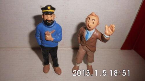 bully hergé TINTIN Lot de 2 figurinesTintin et capitain haddock