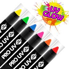UVGlow UV Neon Face & Body Paint Stick (6 Pack) Halloween makeup face paint