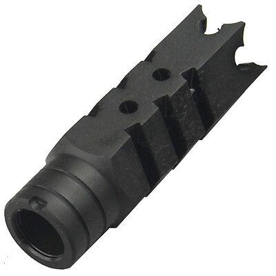 All Steel 14x1 LH Thread Shark Muzzle Brake Device For 7.62x39mm