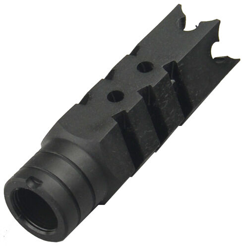 All Steel 14x1 LH Thread Shark Muzzle Brake Device For 7.62x39mm