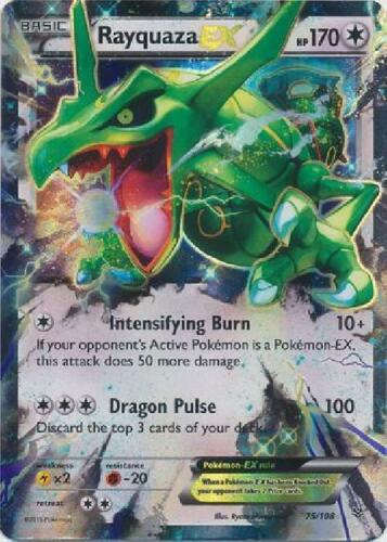 75//108 Ultra Rare NM Pokemon XY Roaring Skies 2B3 Rayquaza-EX