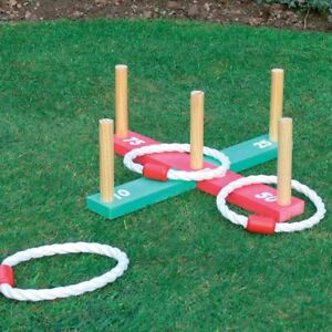 Kingfisher-Wooden-Garden-Indoor-Outdoor-Quoits-Family-Pegs-And-Rope-Hoopla-Game