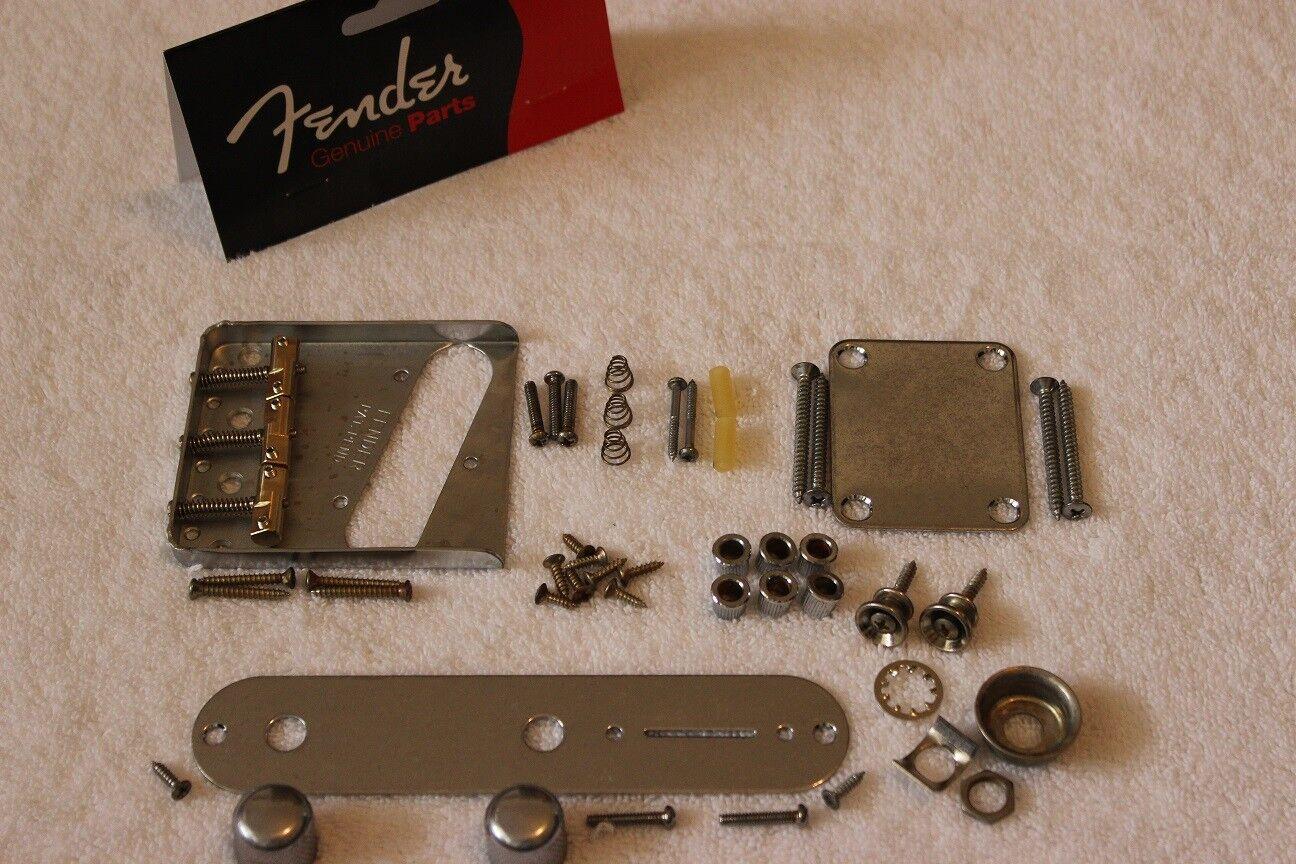 Fender Telecaster Envejecido Reliquia Cromo conjunto de hardware hardware hardware con compensación de cuerpo-USA-Tele  artículos novedosos