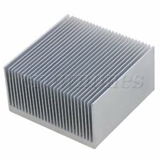 Silver Tone Aluminium Diffuse Heat Sink Cooling Fin Radiator 60x60x10mm 16 Tooth