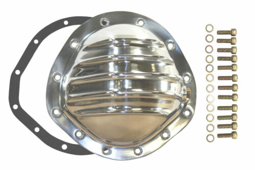 """Polished Aluminum Chevy GM 12 Bolt Diff  8.75/"""" RG Differential Cover REAR"""